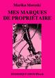 MES MARQUES DE PROPRIÉTAIRE (eBook) De Marika Moreski et Bill Ward - Dominique Leroy